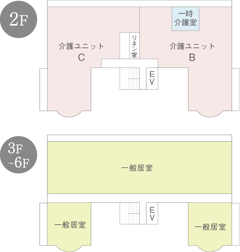 2~6階のご案内